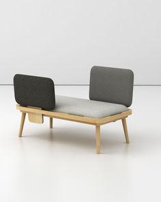 banquette - confident - méridienne dossiers amoviblesofa - confidant - day bed removable back1050 x 560 mm