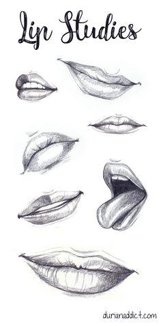 Lip studies | how to draw lips | sketchbook | sketch
