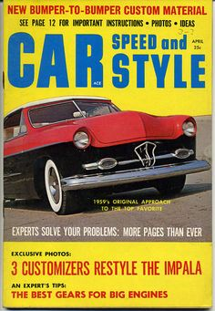 car speed and style magazine vtg april 1959 hot rod custom hop up