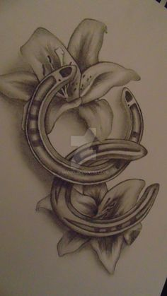 better picture of my horseshoe tattoo design by 3nViixx