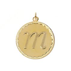 A lovely Dalton charm is a great way to personalize your jewelry. This cursive letter pendant comes in small, medium or large with a gold finish.