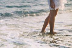walking in sea