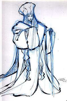 Snow Queen - Frozen - Concept Art - Harald Siepermann