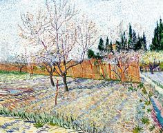 Orchard with Peach Trees in Blossom Vincent van Gogh art for sale at Toperfect gallery. Buy the Orchard with Peach Trees in Blossom Vincent van Gogh oil painting in Factory Price. Art Van, Van Gogh Art, Paul Gauguin, Vincent Van Gogh, Van Gogh Museum, Art Museum, Henri Matisse, Henri De Toulouse Lautrec, Van Gogh Paintings
