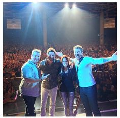 Rascal Flatts & Cassadee Pope! I was at this concert when this was taken! :)