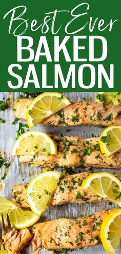 This Easiest Ever Baked Salmon Recipe is a foolproof formula for perfect salmon every time - plus 5 easy marinades like maple dijon, honey garlic & more! #bakedsalmon #salmonmarinades