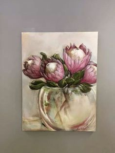 Hanging at Head First, Balito Oil on canvas SOLD Shades of white painting workshop, Oil paint on canvas. Protea Art, Protea Flower, Flowers, Abstract Canvas Art, Canvas Wall Art, Painting Workshop, Magnolia Flower, Painting Inspiration, Painting & Drawing