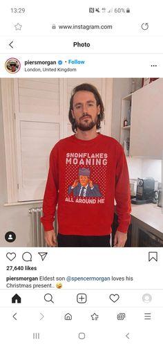 Piers Morgan, Graphic Sweatshirt, T Shirt, Sweatshirts, Long Sleeve, Sleeves, Sweaters, Mens Tops, Fashion