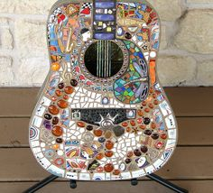 mosaic guitar celebrating Texas women in music by Silvahayes, via Flickr