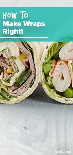 Finally learn how to roll a sandwich wrap that doesn't fall apart on you ... or your uncoordinated tween. These easy wrap recipes are awesome for packed lunches (or dinner on the go).