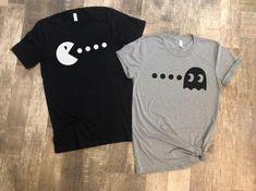 Pacman Shirts Matching Pacman Shirts Cute Couples Shirts - Weird Shirts - Ideas of Weird Shirts - Cute Valentines Day gift Pacman Shirts Matching Pacman Shirts Cute Couples Shirts Best Friend Matching Shirts, Best Friend T Shirts, Matching Hoodies, Bff Shirts, Matching Couple Outfits, Matching Couples, Cute Shirts, Matching Set, Funny Couple Shirts