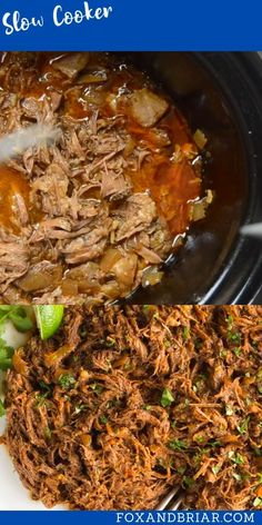 This all purpose Slow Cooker Mexican Shredded Beef is great for tacos, burritos and more! Quick and easy prep work and the crock pot does the rest. Best Slow Cooker, Slow Cooker Recipes, Beef Recipes, Delicious Crockpot Recipes, Healthy Recipes, Yummy Recipes, Lunch Recipes, Mexican Food Recipes, Dinner Recipes