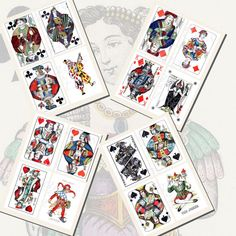 Kings Queens Jacks and Jokers Playing Card by imagesbythebook