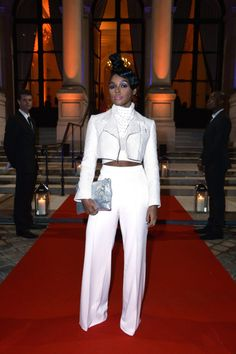 Armani Whites Skull - monaedroid:   Janelle Monáe Paris Fashion Week...