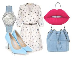 """Без названия #327"" by alina12103 ❤ liked on Polyvore featuring Yumi, JustFab, Michael Kors, GUESS and Lime Crime"