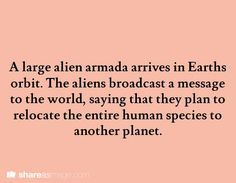 Conflict could be that the aliens knew the planet they were moving the humans to was going to be destroyed in the near future.