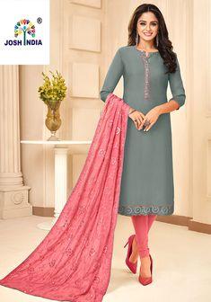 Online shopping for latest and designer salwar kameez in different style. Buy this impressive art silk designer salwar suit for ceremonial and festival. Readymade Salwar Kameez, Shalwar Kameez, Churidar, Bollywood Fashion, Bollywood Style, Floor Length Anarkali, Designer Salwar Suits, Short Girls, Indian Beauty