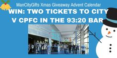 WIN: TICKETS TO MAN CITY V CRYSTAL PALACE IN PREMIUM SEATS!!! Christmas Competitions, Win Tickets, Crystal Palace, Yummy Food, Crystals, City, Delicious Food, Crystal, Cities