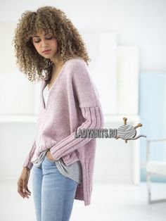 Free Knitting Pattern for a Cedar Hill Pullover. Free Pattern More Patterns Like This! Sweater Knitting Patterns, Easy Knitting, Knit Patterns, Handgestrickte Pullover, Angora, Lace Sweater, How To Purl Knit, Pulls, Knitwear