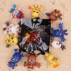 10pcs/set FNAF Freddy Fazbear Foxy Figure Hangers Five Nights at Freddy's Keychain Characters Collector #Affiliate
