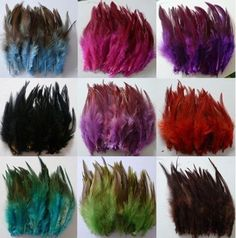 Beautifulof! 50/100pcs beautiful rooster tail feathers 5 - 7 inches