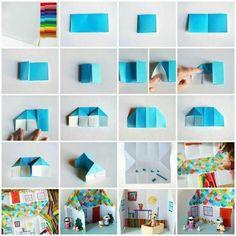 Haus gefaltet Origami