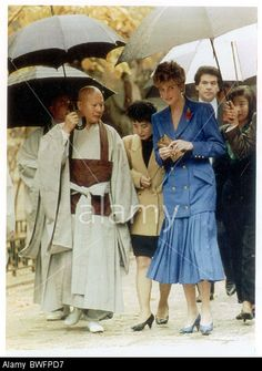 Diana Princess Of Wales - 1992 Diana Princess Of Wales Pictured On Her Arrival At The Pulguk-sa Temple