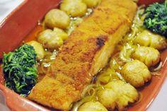 Bacalhau Recipes, Greek Dishes, Portuguese Recipes, Portuguese Food, Cod Fish, Yummy Food, Tasty, Yams, Buffalo Chicken