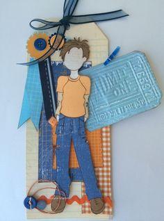 Este é o Aidan...Desafio do mês, utilizando cores azul e laranja.