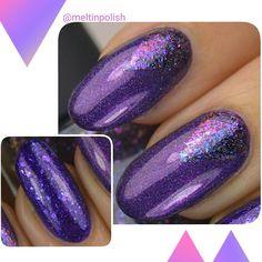 Macro from last post!  So gorgeous look I get lost in... Thanks to @ilnpbrand Purple Plasma and ultraflakies Luna (H) plus @picturepolish Lollipop.  #purplenails #ilnp #ilnpbrand #picturepolish #purpleplasma #ultraflakies #picturepolishsharing #glitternails #holonails #holograficnails #nails #manicure #nailvarnish #naillacquer #nailjunkie #nailart #nailsofinstagram  #ongles #notd #vernis #nailpolish #nailswag #nailstagram #instanails #polishaddict #nagellack #nailporn #nailitdaily…