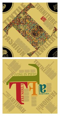 front and back design of folded poster for PIFD. If we keep on folding it, it will turn into a folded dress shirt.