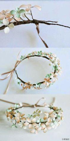 DIY. Flores de alambre y esmalte de uñas