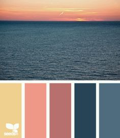 This palette is different from my normal choice of jewel tones. I do like the sunset colors, so this will be a good choice of colors to try. - Our Home Decor Scheme Color, Color Palate, Colour Schemes, Color Patterns, Color Combos, Color Tones, Colour Palettes, Decoration Palette, Sunset Colors