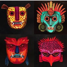 Graffiti, Mexico Art, Creature Concept Art, Mexican Artists, Up Halloween, Tribal Patterns, Illustration Sketches, American Art, Body Painting