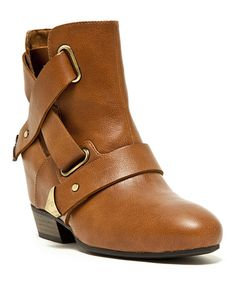 Another great find on #zulily! Cognac Martyr Ankle Boot by Qupid #zulilyfinds
