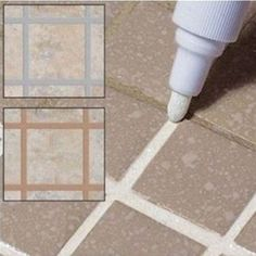 Buy Tile Marker Repair Wall Pen White Grout Marker Odorless Non Toxic for Tiles Floor and Tyre ( Color: 12 Colors) at Wish - Shopping Made Fun Floor Grout, Tile Grout, Grouting, Grout Sealer, Sanded Grout, Tile Filler, Easy Tile, Porch Tile, Diy Home Cleaning