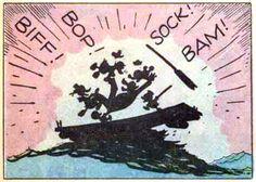 """biff! bop! sock! bam!   From """"The Horseradish Story"""" by Carl Barks, September, 1953"""