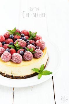 Martha Stewart New York Cheesecake   relleomein.de #cheesecake #sweetsunday