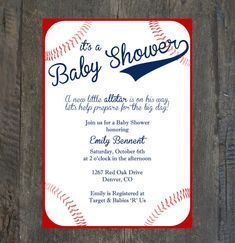 Baby Shower Invitation Baseball by SilhouetteDesign on Etsy, $2.00