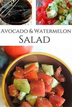 Avocado Watermelon Salad Recipe - Tasty salad that is perfect for summer BBQs! It is perfect for #Whole30, too!