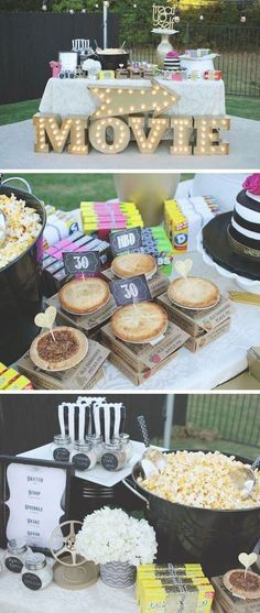 25 Creative Birthday Party Ideas to Make Yours Unforgettable Birthday Party Ideas For Teens 13th, 18th Birthday Party Themes, Sweet 16 Party Themes, Diy Birthday Decorations For Teens, Teen Birthday Parties, Diy Sweet 16 Decorations, Outdoor Movie Birthday, Movie Party Decorations, Teen Party Themes