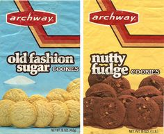 Archway Cookies packaging circa 1970's