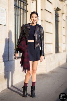 Chiharu Okunugi Street Style Street Fashion Streetsnaps by STYLEDUMONDE Street Style Fashion Blog
