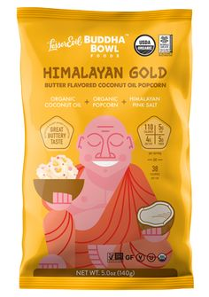 Lesser Evil Organic Buddha Bowl Popcorn - Himalayan Gold - Case Of 12 - 5 Oz Country of origin : USA, Connecticut Organic : Yes Gluten Free : Yes Vegan : Yes Kosher : Yes GMO Free : Yes Size : 5 OZ Pack of : 12 Product Selling Unit : case Coconut Oil Popcorn, Butter Popcorn, Organic Coconut Oil, Organic Oil, Smoked Salmon Bagel, Organic Popcorn, Food Should Taste Good, Kettle Chips