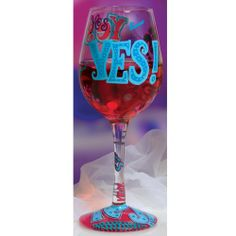 "lolita wine glasses images | Yes"" Wine Glass by Lolita® 