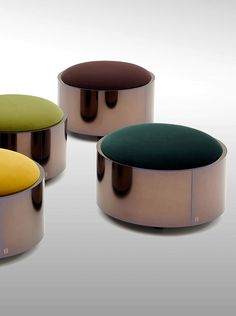 Constellation ottomans for Fendi Casa www.luxurylivinggroup.com #Fendi #LuxuryLivingGroup