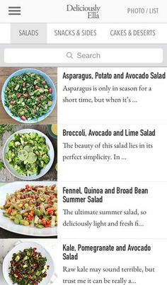 The Deliciously Ella App is all about celebrating natural healthy food.  Over 100 simple, easy to follow recipes with clear instructions.  5 different detox menus lasting either 3 or 5 days #foods #app #healthy #cooking #detox