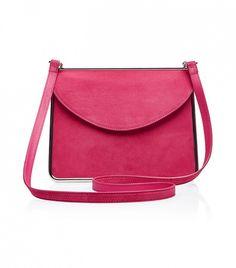 Carven Suede Shoulder Bag // Pink bag