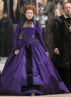 Elizabeth's Purple Gown (Elizabeth: The Golden Age, 2007). (Source: costumersguide.com)