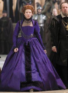 Elizabeth's Purple Gown (Elizabeth: The Golden Age, 2007). (Source: costumersguide.com)